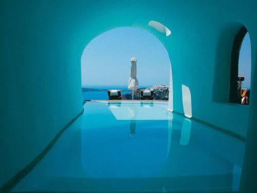 Indoor outdoor pool, Santorini Santorini Pinterest Outdoor pool