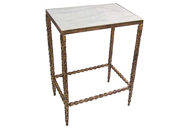 Wright Marble Side Table on OneKingsLane Ideas for the House - dr livingstone i presume furniture