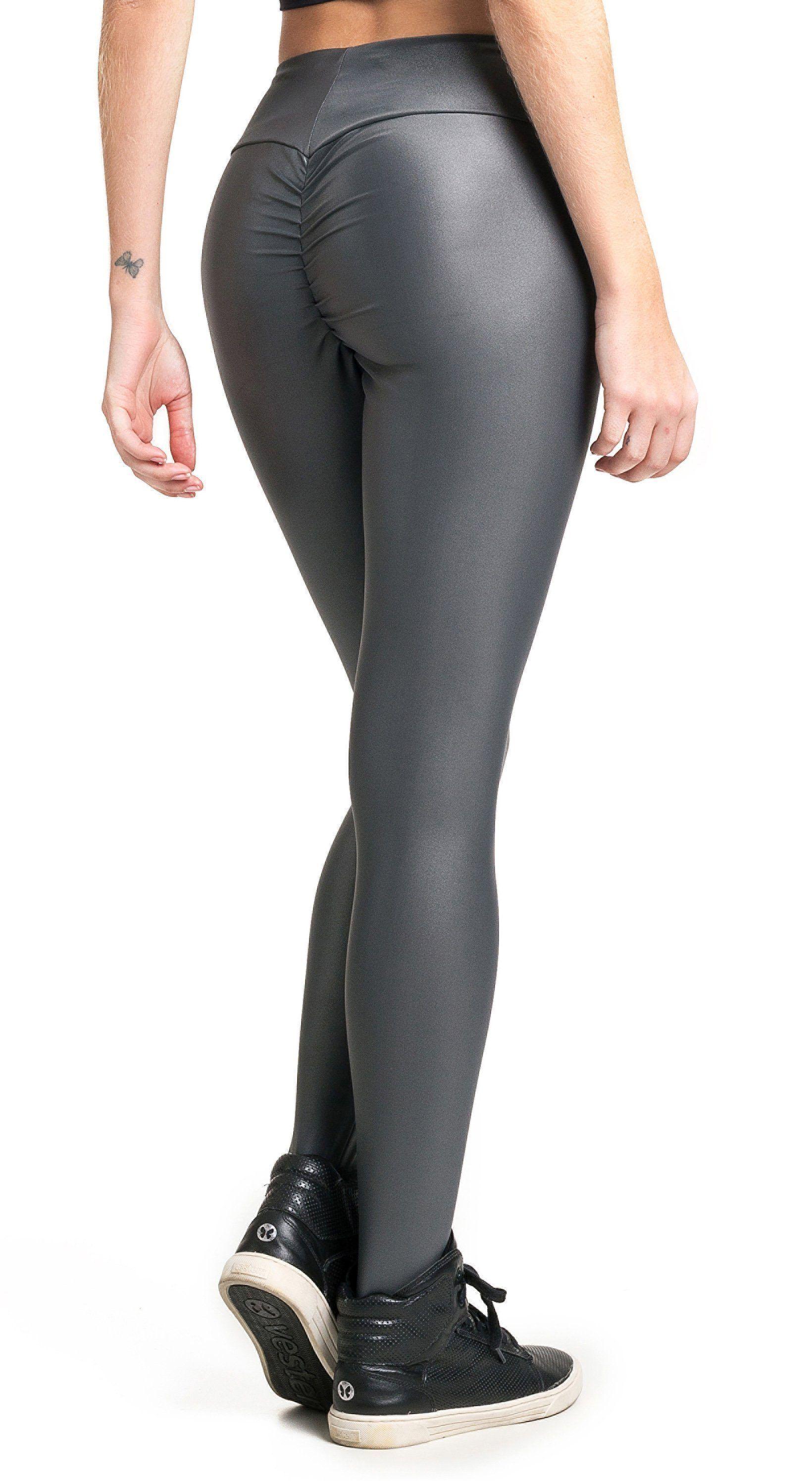 2d22ce2351cce Vestem - Brazilian Workout Legging - Ruched Booty Up Shiny Grey ...