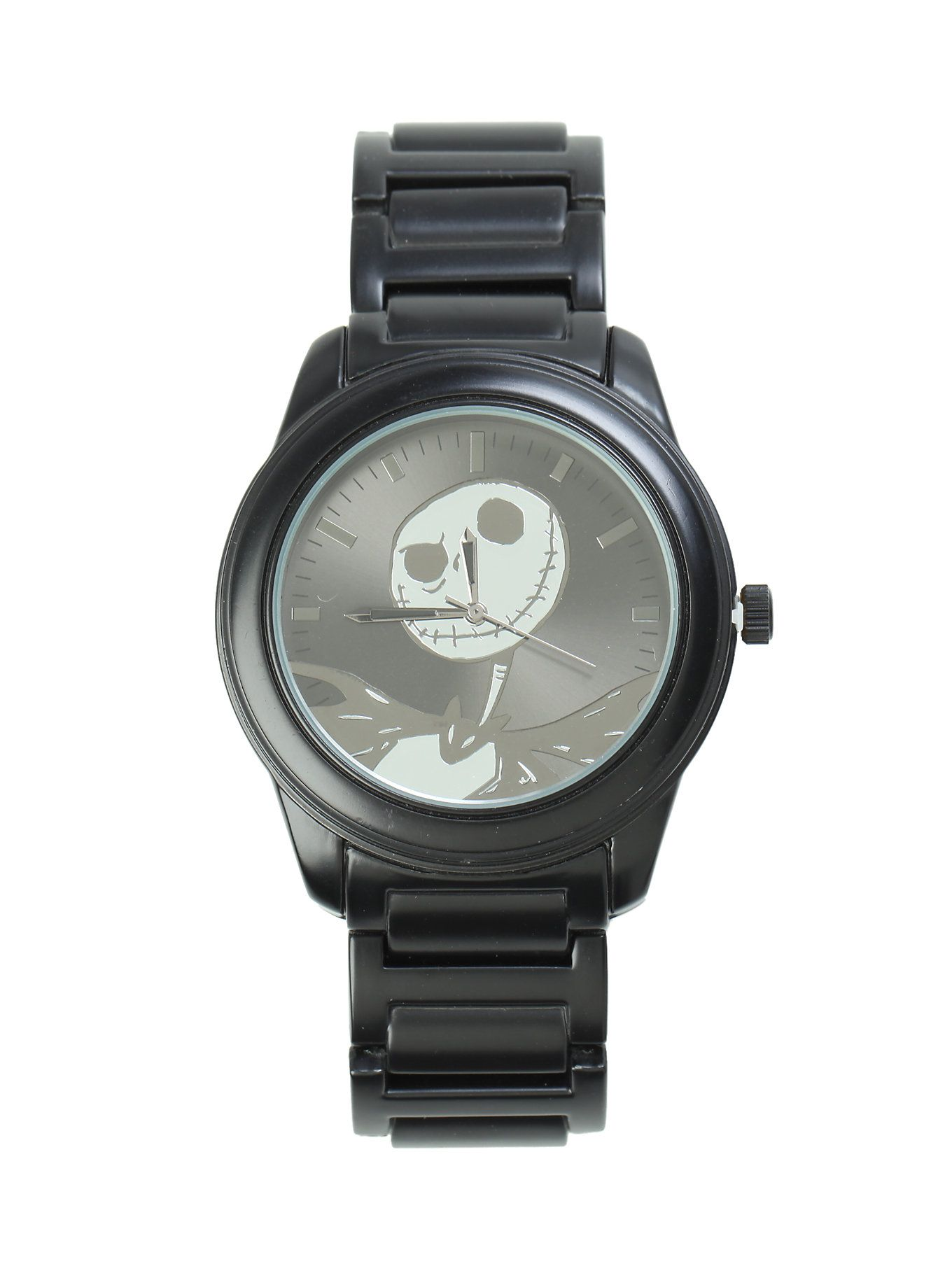 The Nightmare Before Christmas Jack Black & Silver Watch | Pin of ...