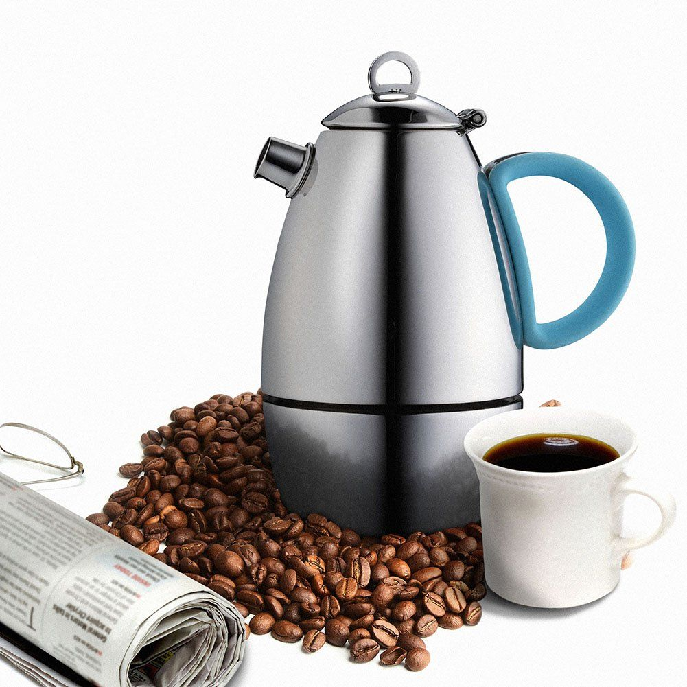 Minos moka pot espresso maker cup fl oz stainless steel and