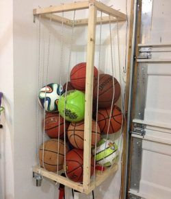 organize all those sports balls at home by building this on attractive garage storages ideas to organize your garage get these few tips id=34755