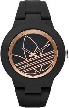 2608614fdc1 Women s adidas Originals  Aberdeen  Silicone Strap Watch 41mm - Black  Rose  Gold  watches  womens