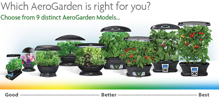 Aerogarden Comparison Chart Indoor Garden Hydroponic 400 x 300