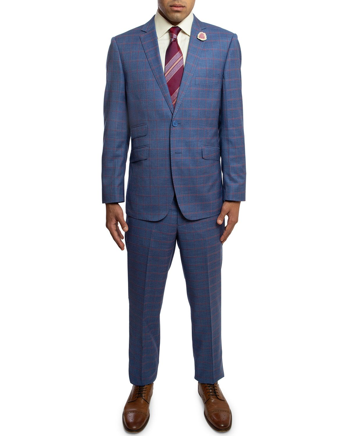 English Laundry Men S Slim Fit Checkered Two Piece Suit Englishlaundry Cloth Slim Fit Men Slim Man English Laundry [ 1500 x 1200 Pixel ]