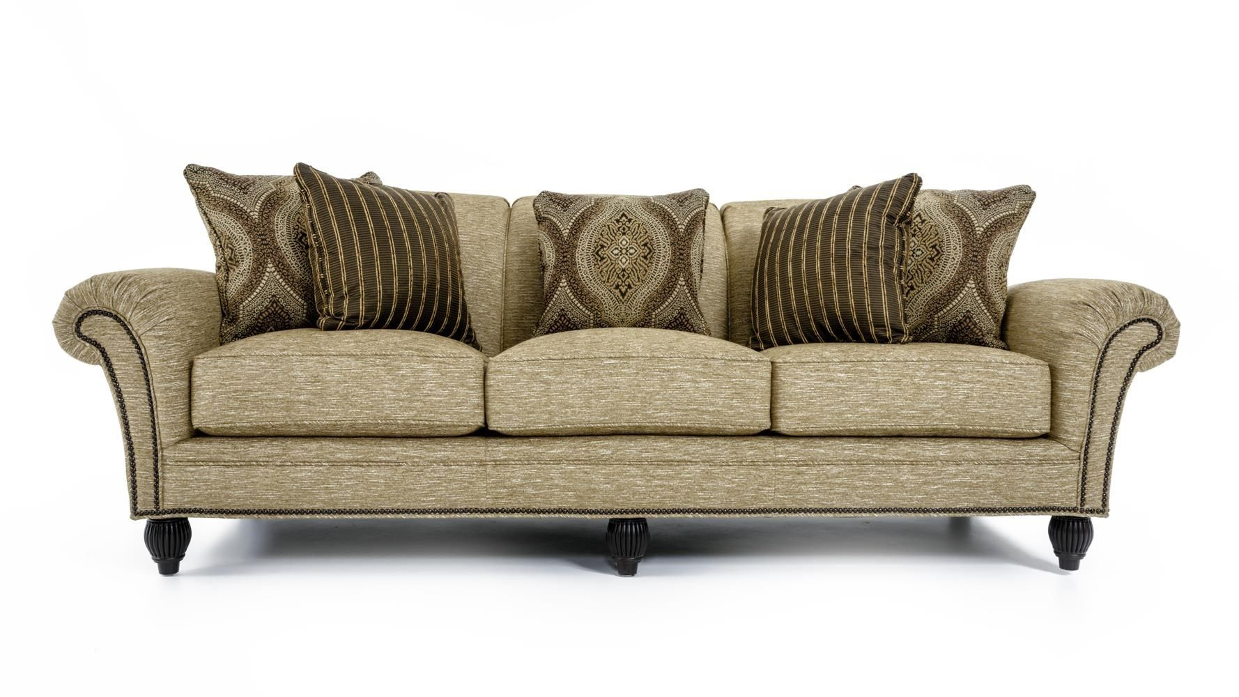 Royal Kahala Edgewater Rolled Arm Sofa With Nailhead Trim By Tommy Bahama Home At Baer S Furniture Tommy Bahama Home Rolled Arm Sofa Nailhead Trim