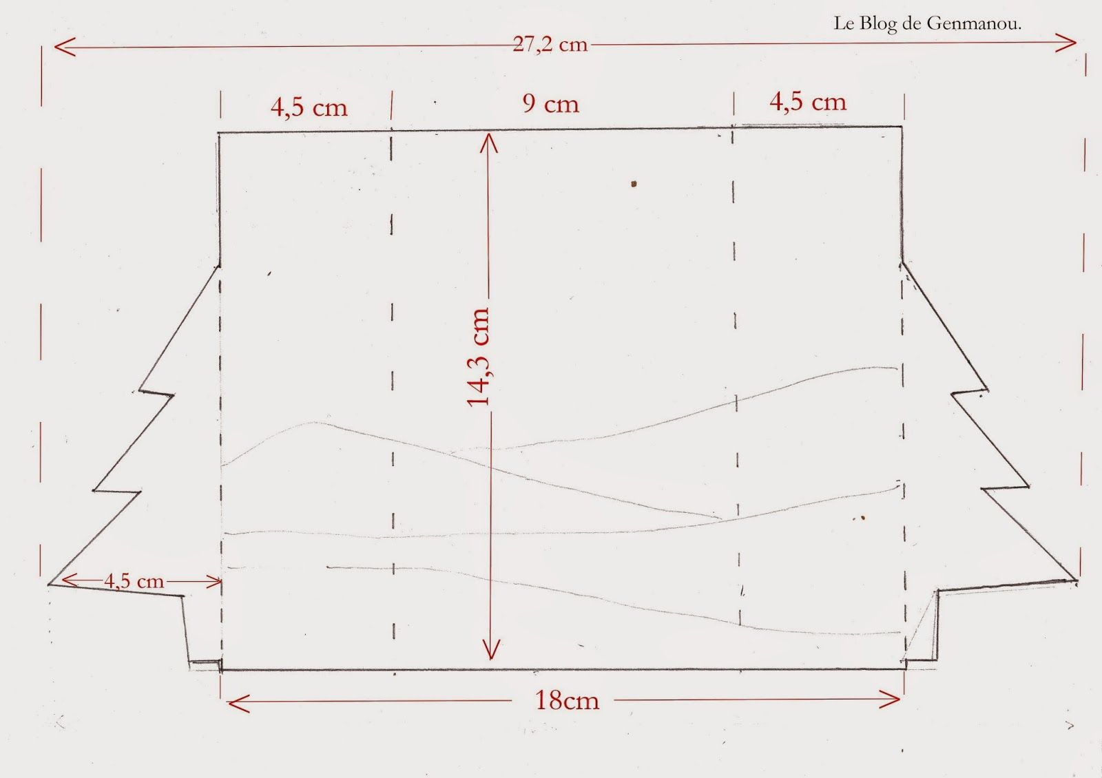 Diagram For Fancy Fold Christmas Card From The Blog Of Genmanou Tree Tuto