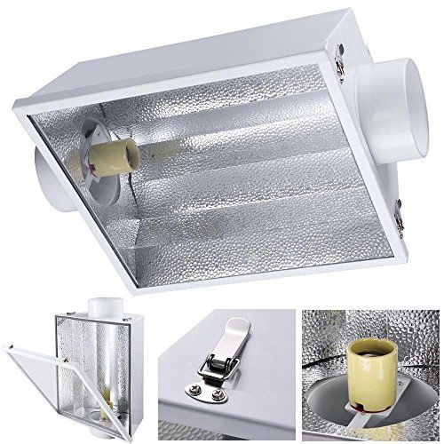 6 Air Cooled Reflector Hood w Glass Fit 1000w 600w 400w 250w HPS MH Grow Light -- Want to know more, click on the image.(This is an Amazon affiliate link and I receive a commission for the sales)