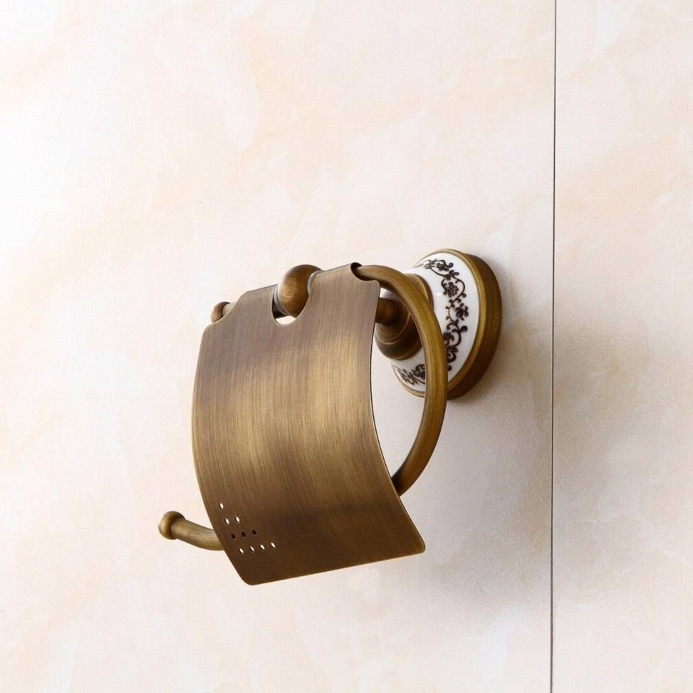 Paper Holders Ceramics Antique Brass Paper Holder Tissue Roll Holder Wall Mounted Constructio