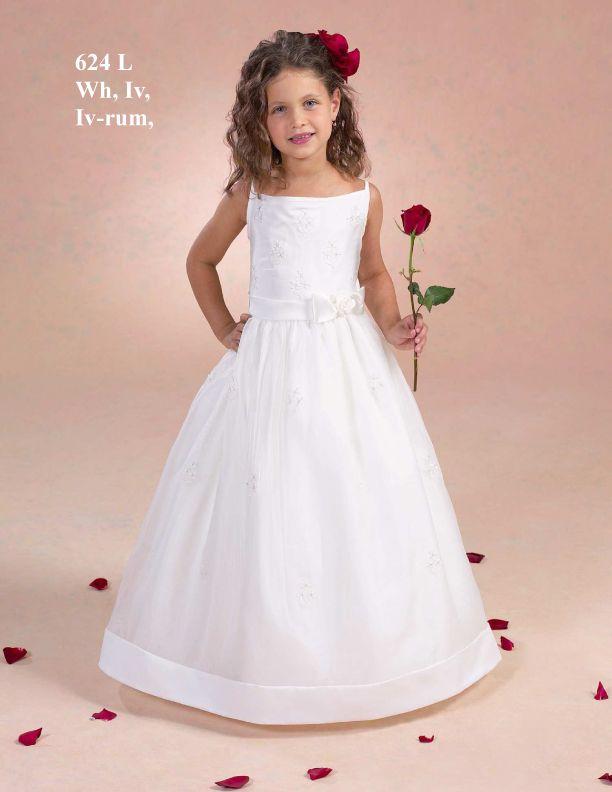 83491274c Discount Lively Square Neckline Appliques Satin First Communion Dresses  (BSFCD-014) Online