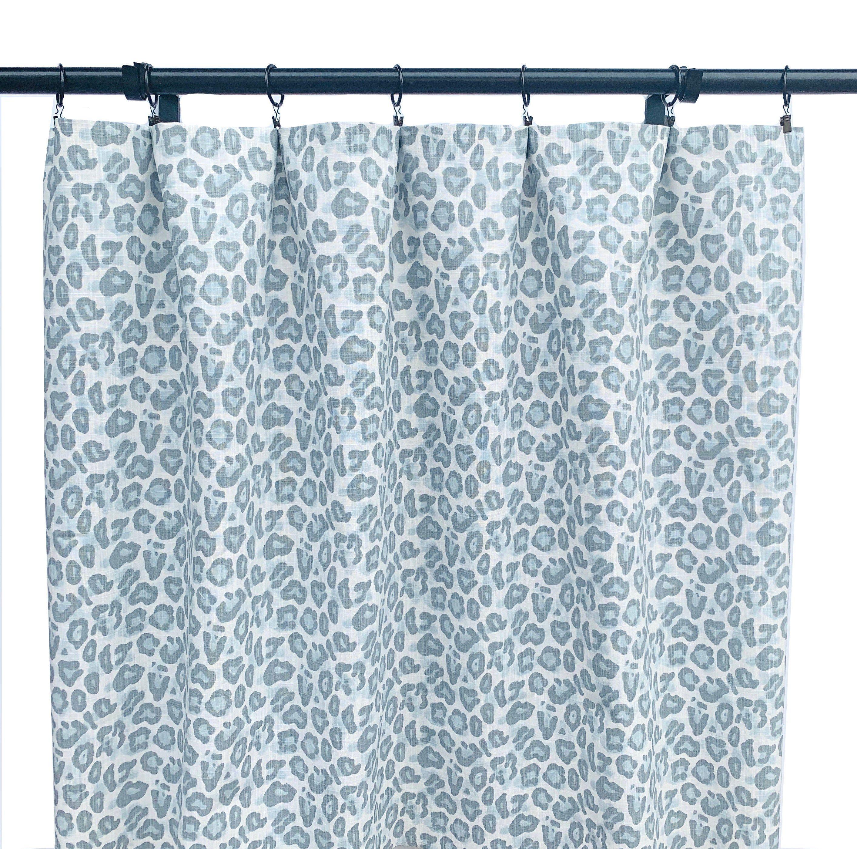 Leopard Print Curtains Animal Print Curtain 2 Blue Grey Curtain
