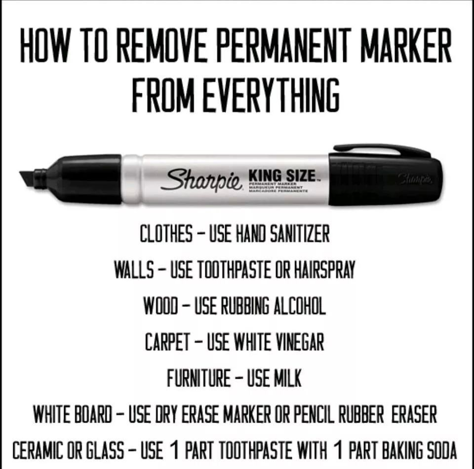 Erase sharpie how to remove sharpie cleaning hacks