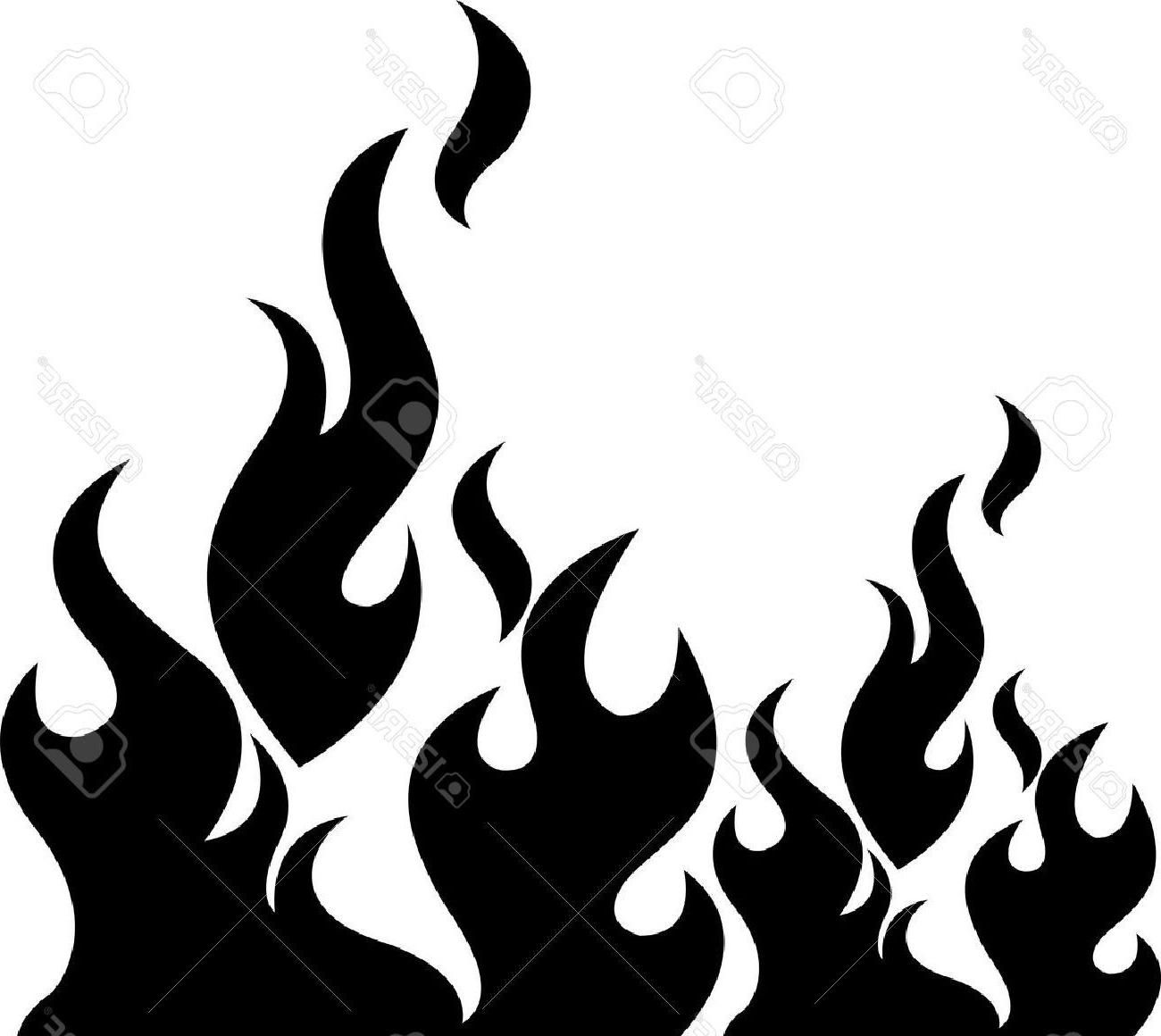 Flame Clipart Black And White Free Clipart Black And White Dark Photo Ideas Fire Drawing