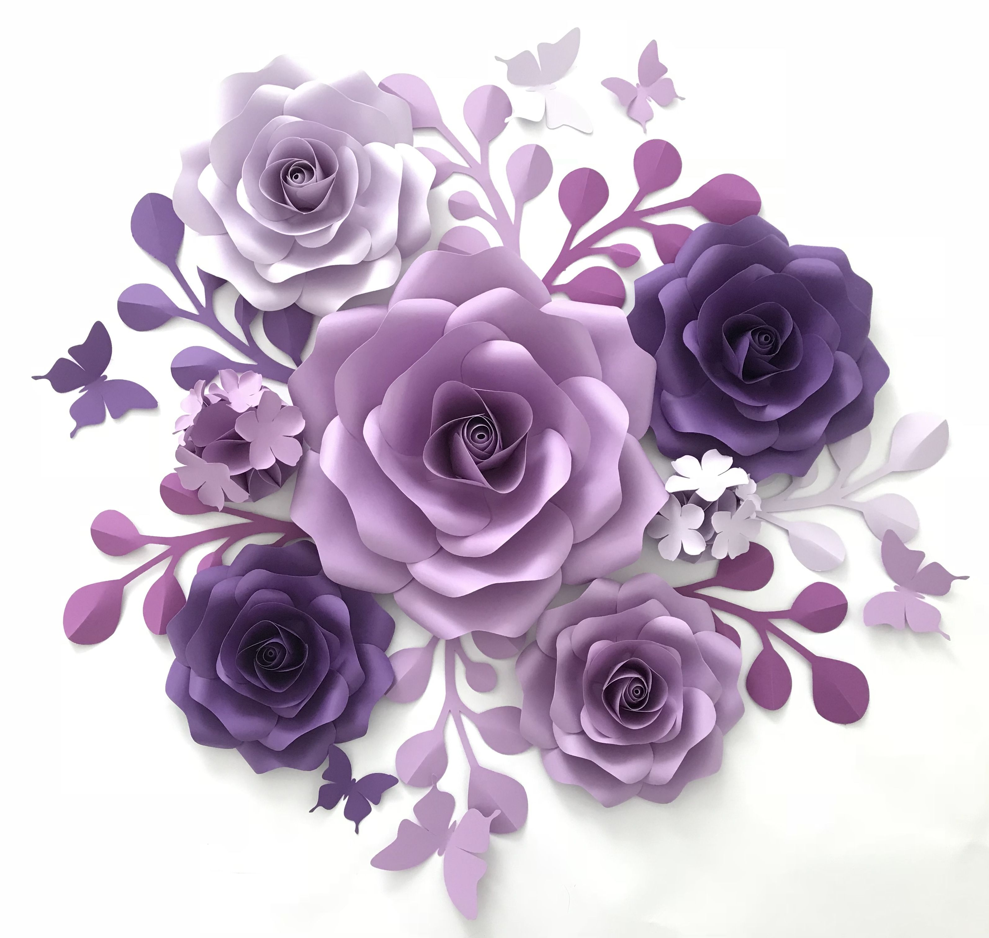 This Paper Rose Template Is Great For Your Flower Backdrop Make