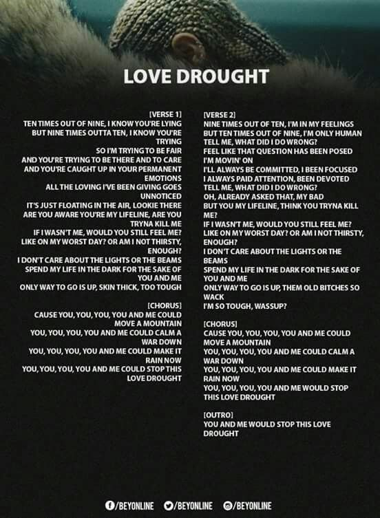 bc9e799a0 Love Drought Lyrics ❤