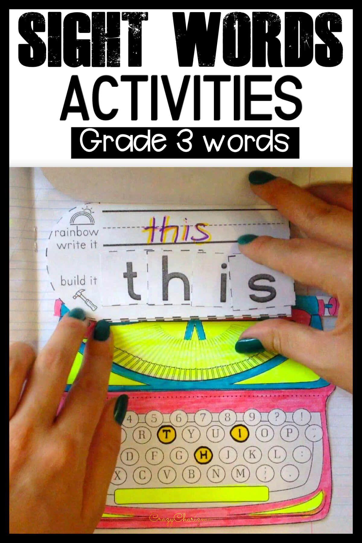 Sight Word Activities 3rd Grade Sight Word Activities Sight Words Kindergarten Word Activities [ 1800 x 1200 Pixel ]