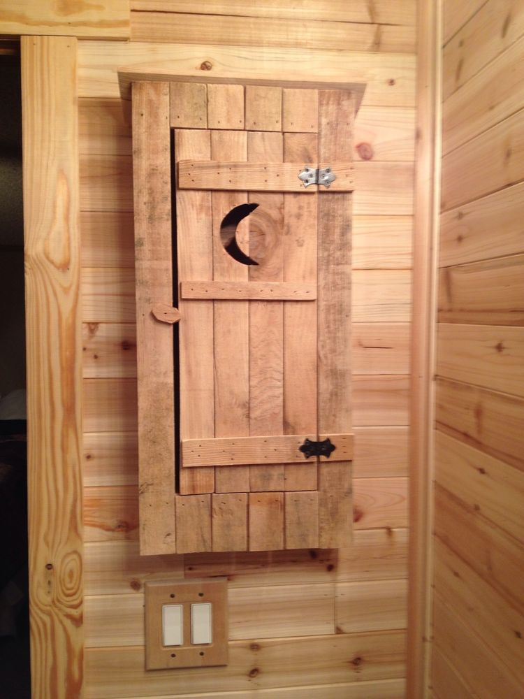 Rustic Medicine Cabinet Outhouse Log Cabin Outhouse