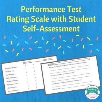 Performance Test Rating Scale With SelfAssessment  Rating Scale