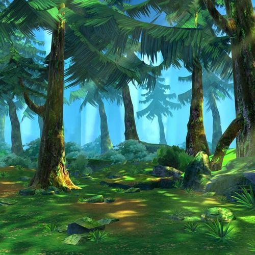 Cartoon Forest Scene 02 3d Model Forest Cartoon Forest Pictures Art Background