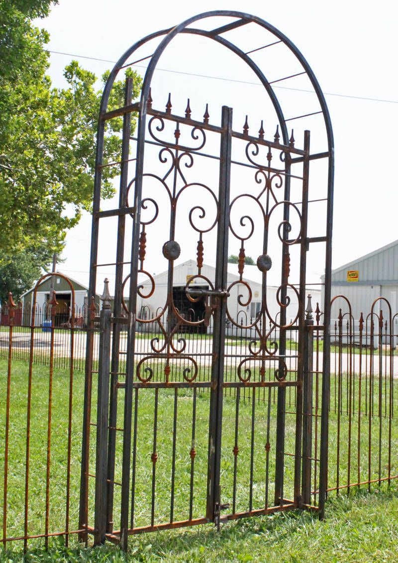 Iron country french arbor entry gate 8 tall arch yard and iron country french arbor entry gate 8 tall arch baanklon Choice Image