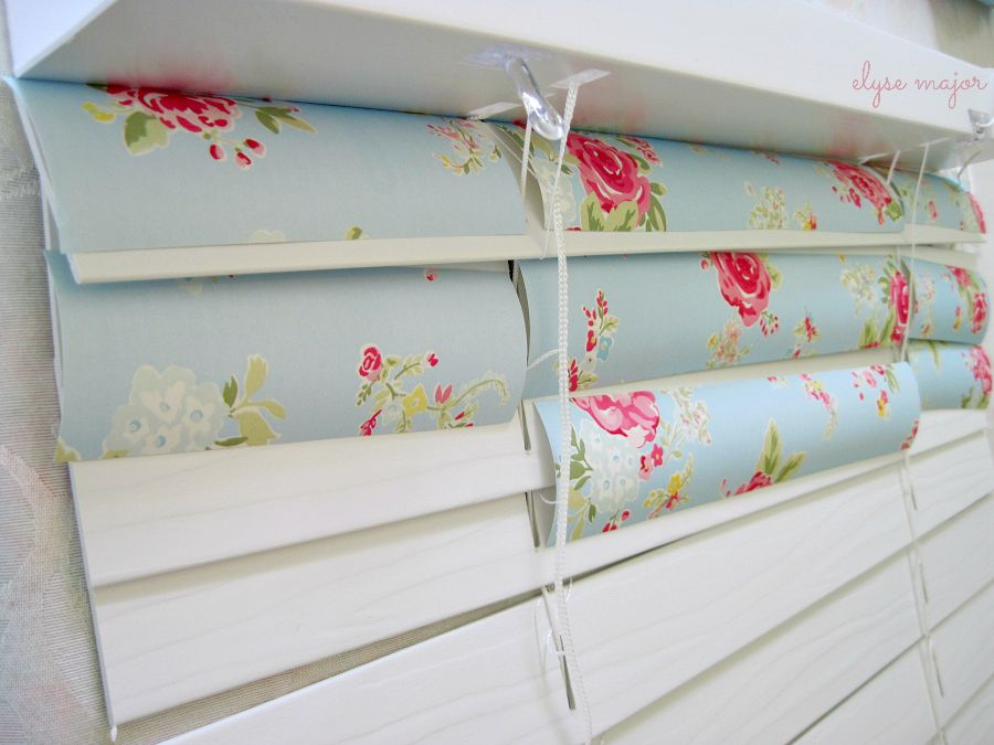 from: love is (wallpapered) blinds