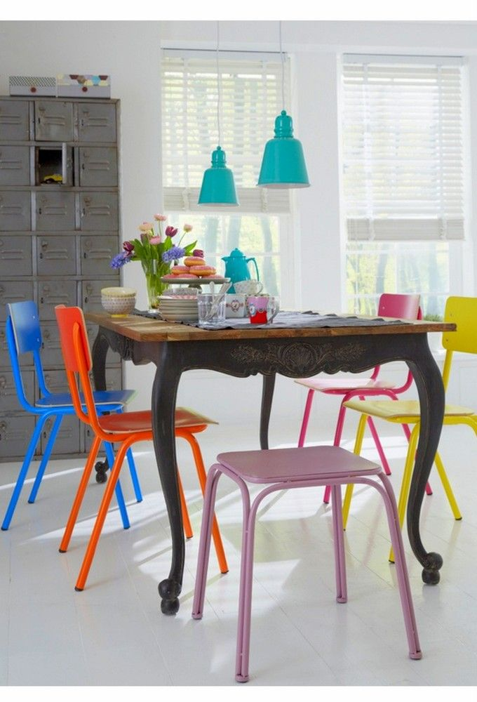 I Love This Eclectic Mix Of Furniture Styles And Colors And The Fair Eclectic Dining Room Sets Design Decoration