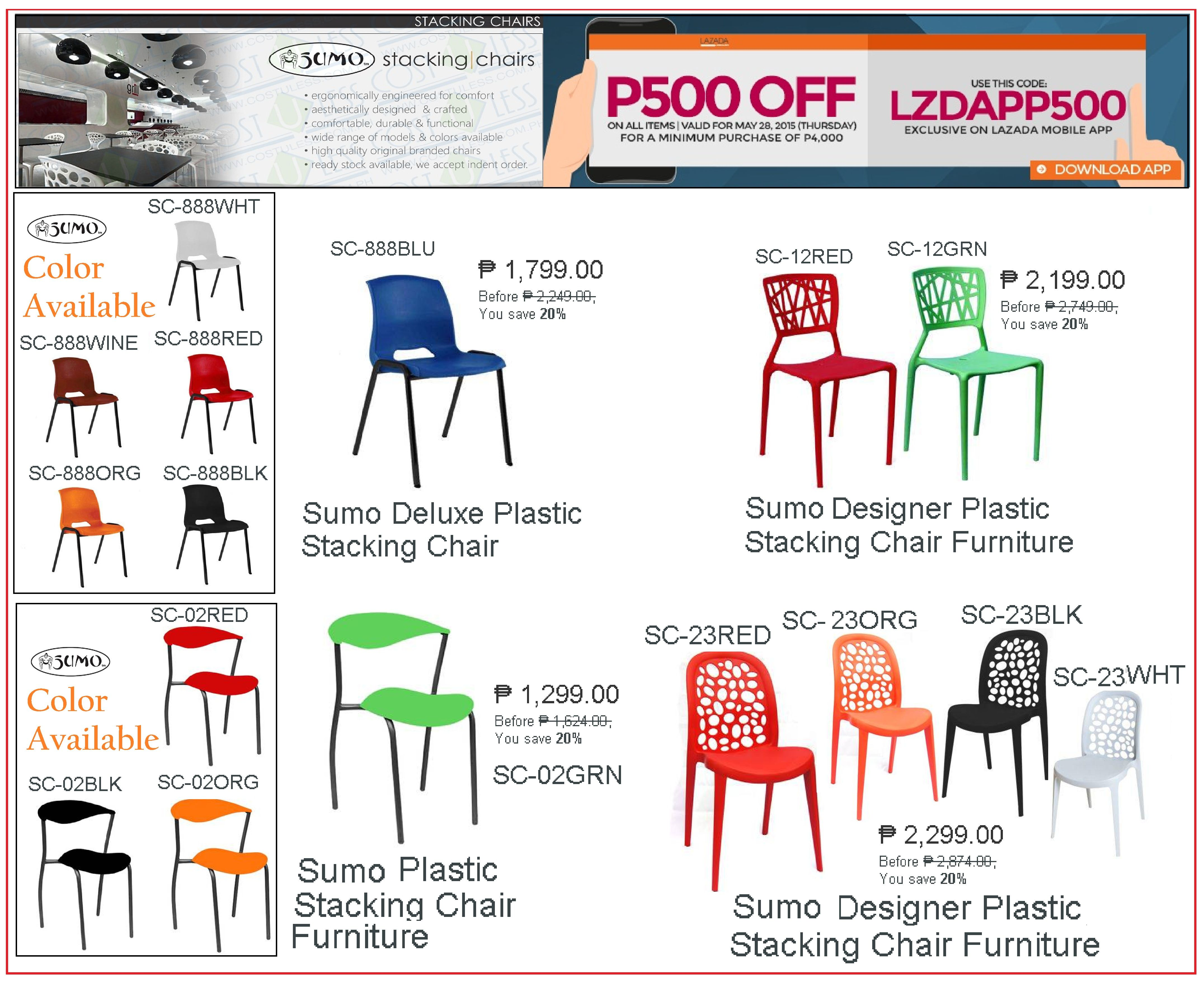 Cost U Less Total Furniture Interior Solutions Restaurant Furniture Chairs Furniture Promo Stacking Chairs
