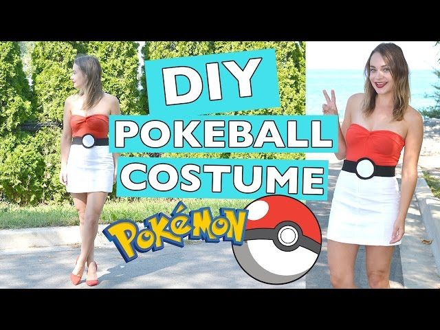 DIY Pokemon Pokeball Halloween Costume | Cute, Sexy Version - Video --> http://www.comics2film.com/diy-pokemon-pokeball-halloween-costume-cute-sexy-version/  #Cosplay