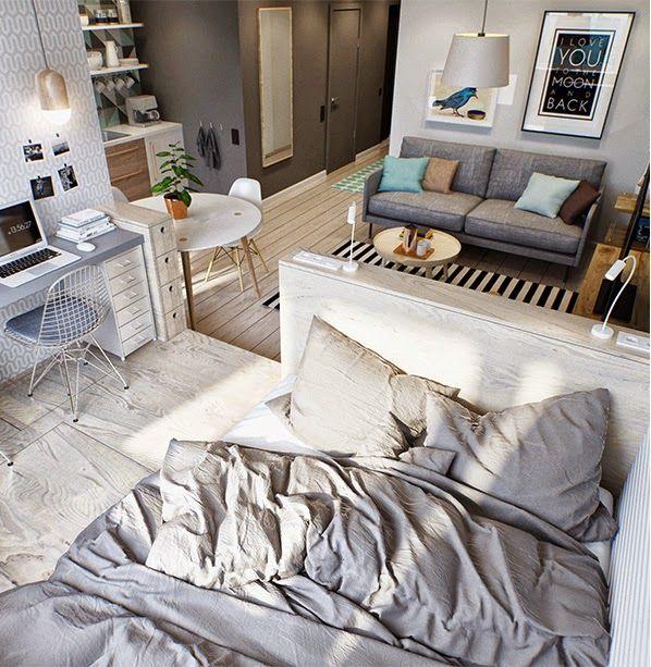 Spécial petits espaces - un studio de 40 m2 bien pensé Studio