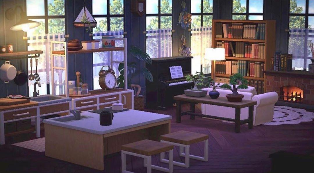 "aesthetics & layout inspo! on Instagram: ""gorgeous white ... on Animal Crossing Ironwood Kitchen  id=67665"