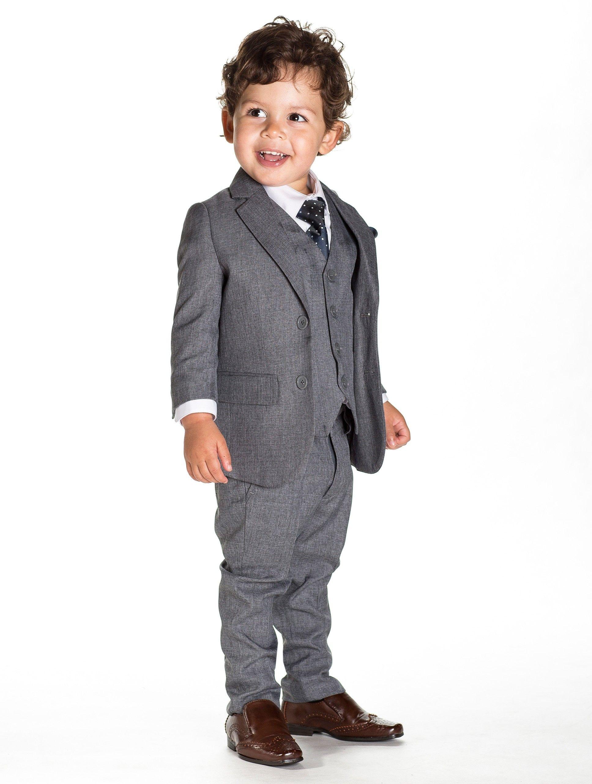 Baby boys grey suit - Philip | Boys wedding suits, Wedding suits ...
