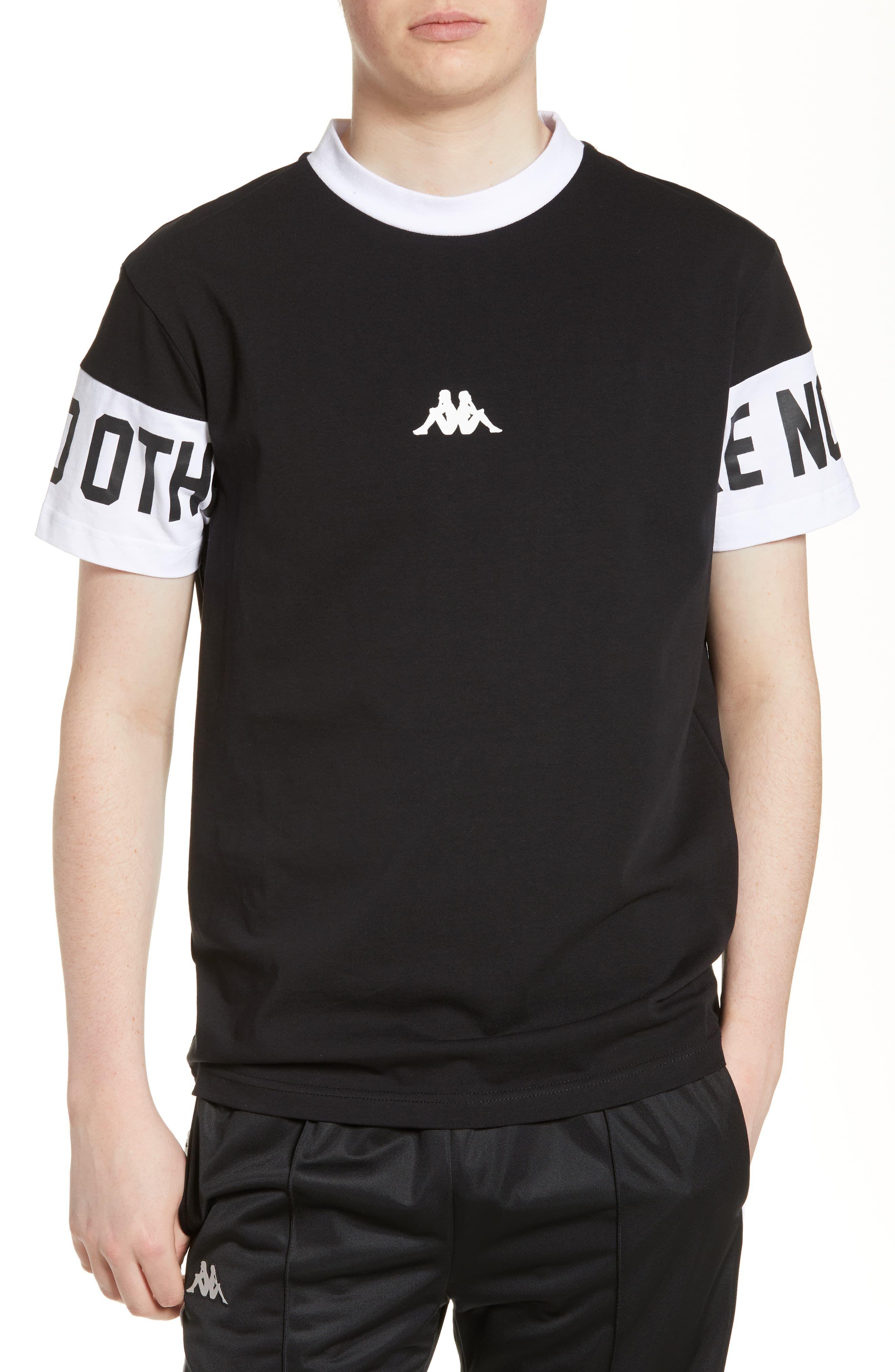 21042293a5 Men's Kappa Authentic Baltos T-Shirt, Size Large - Black | Products ...