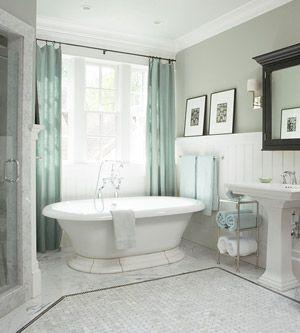 White + gray bathroom