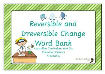 a comparison of reversible and irreversible changes in physics Reversible and irreversible changes - introduction  reversible changes these are physical changes where the original material can easily be recovered.