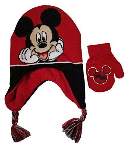 d11c4ff74c4 Disney Toddler Boys  Mickey Mouse Scandinavian Winter Hat and Mitten Set -  Size 2-