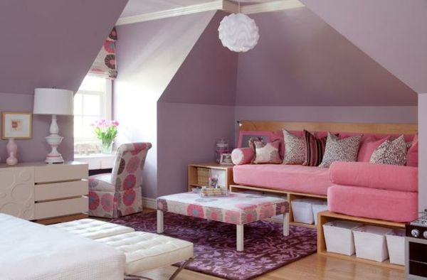 teenager zimmer m dchen lila ideen blumen haus pinterest ideas para dormitorios. Black Bedroom Furniture Sets. Home Design Ideas