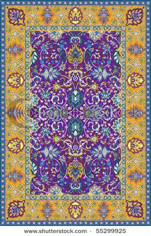 Beautiful Persian Rug Amazing Purple And Yellows Rugs