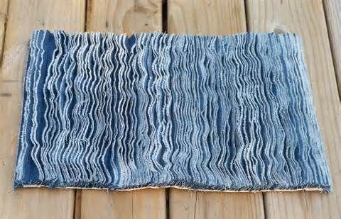 Denim Fringe Floor Mat From Recycled Jeans Denim Rug Denim Quilt Old Jeans