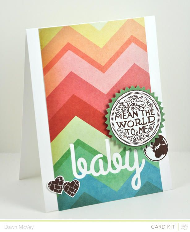 You Mean the World to Me Baby - CARD KIT ONLY by Dawn McVey at @Studio_Calico