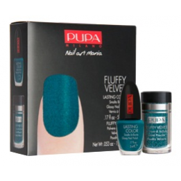 Fluffy Petrol - PUPA Fluffy Velvet Nailart kit