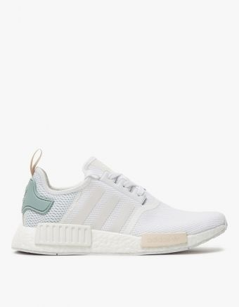 4bc802d15 NMD R1 in White Aqua Green