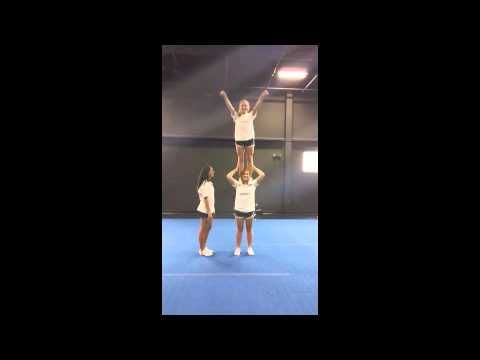 Advanced Cheerleading Stunt Progression: Shoulder Stand - YouTube #cheerleadingstunting