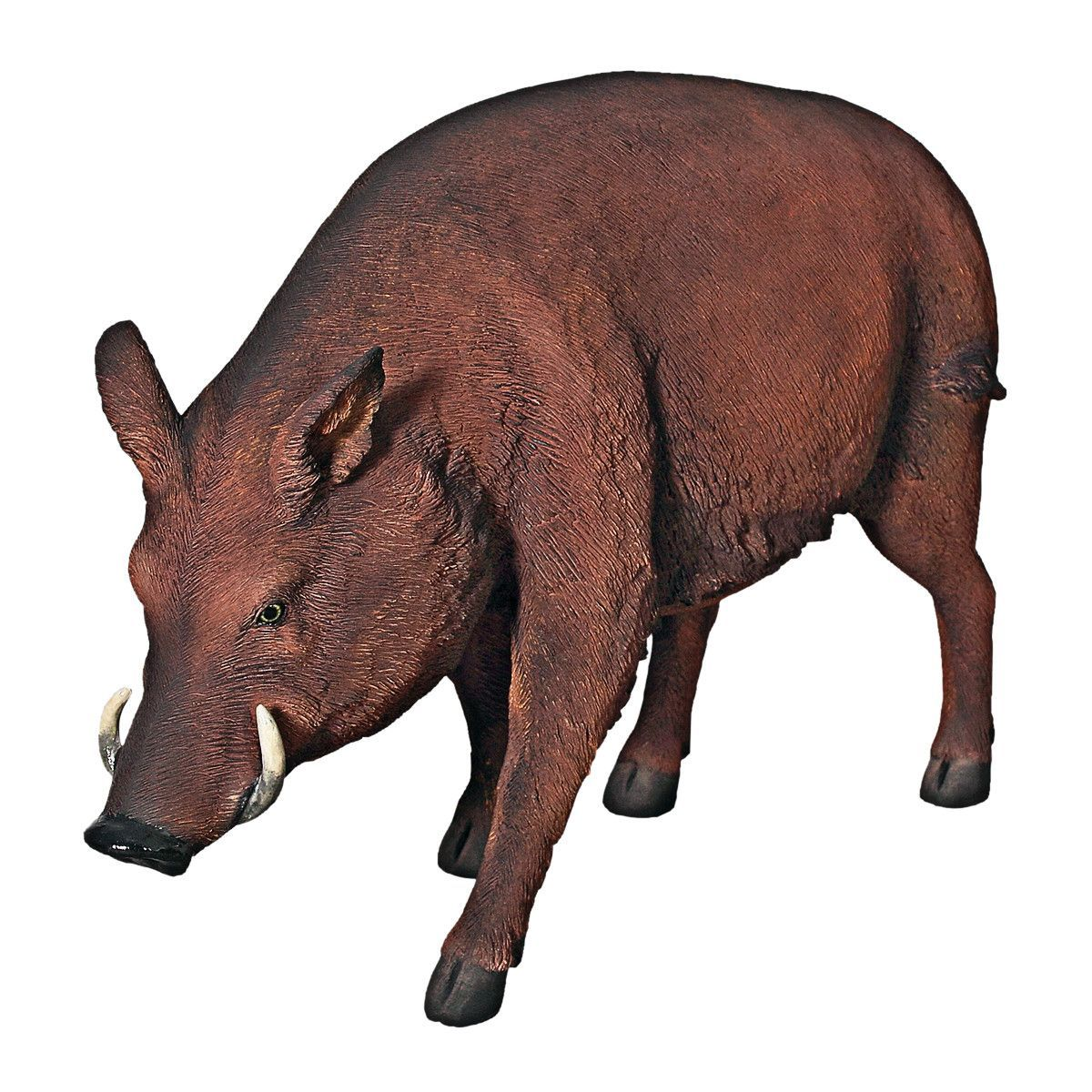 Life-Size Razorback Wild Boar Statue