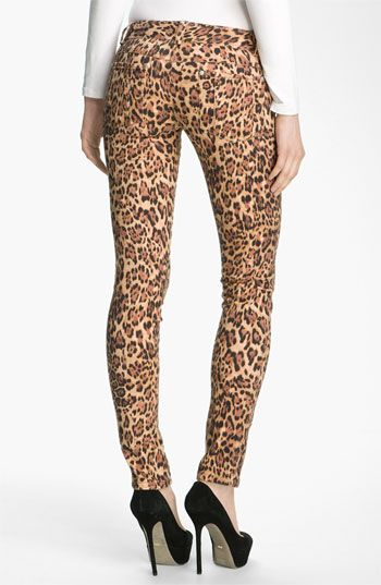 ROAR inner Kitty!  Alice + Olivia Jaguar Print Skinny Jeans available at #Nordstrom