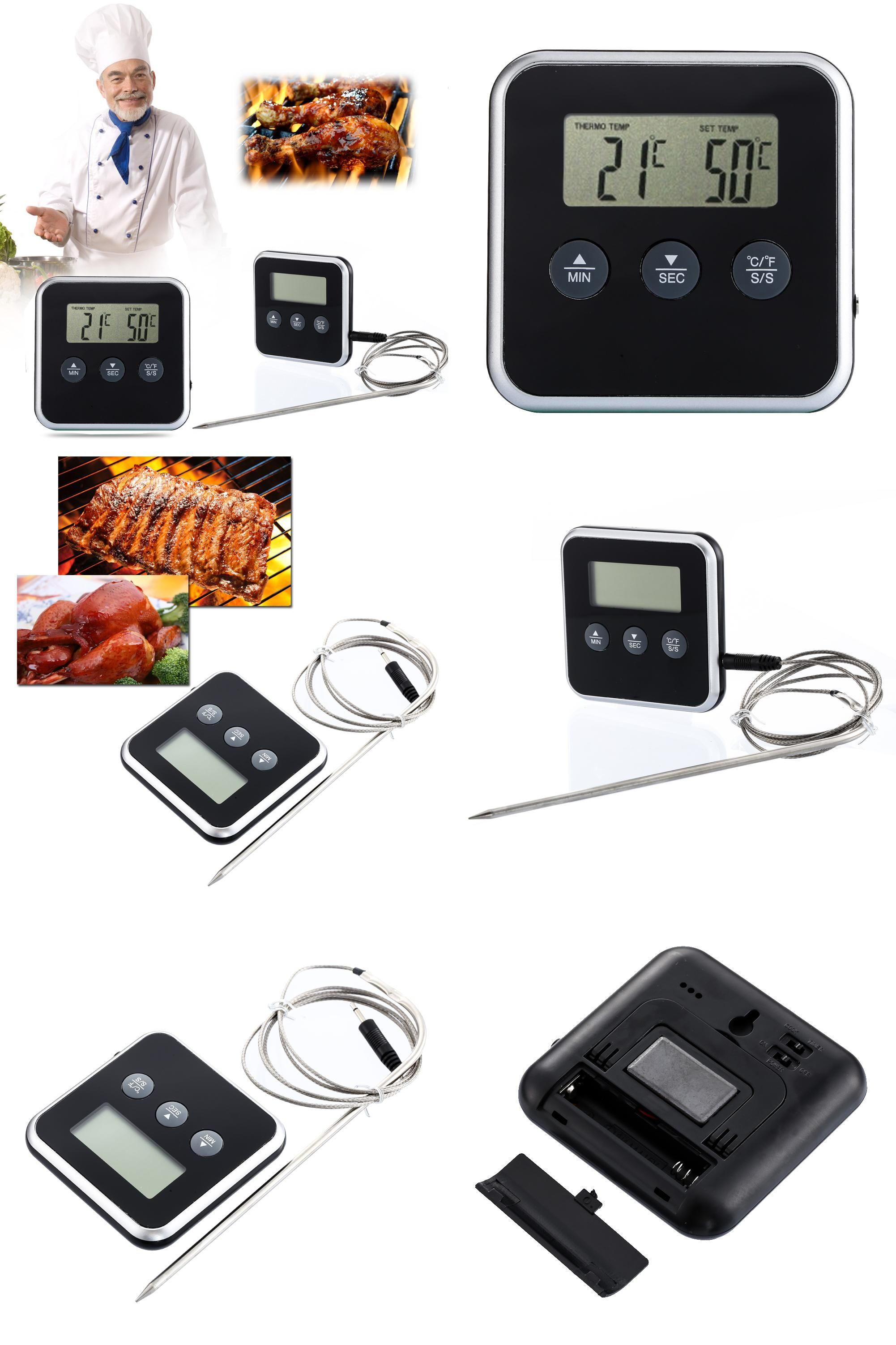 Eddingtons Digital Professional Timer Meat Thermometer Remote Probe Oven Gadgets