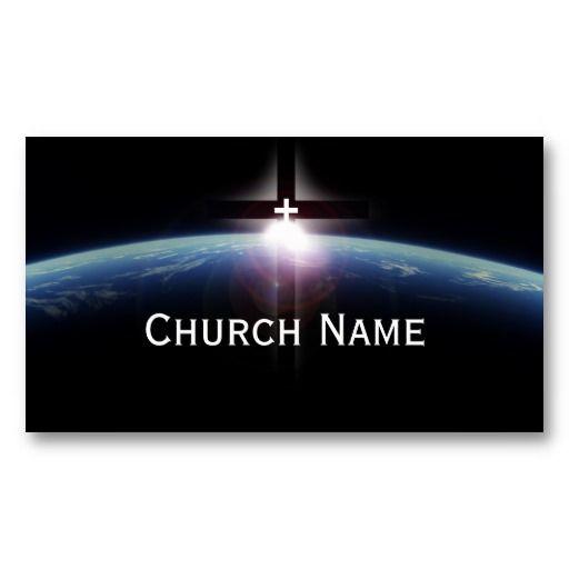 Space Holy Cross Light Church Pastor Business Card