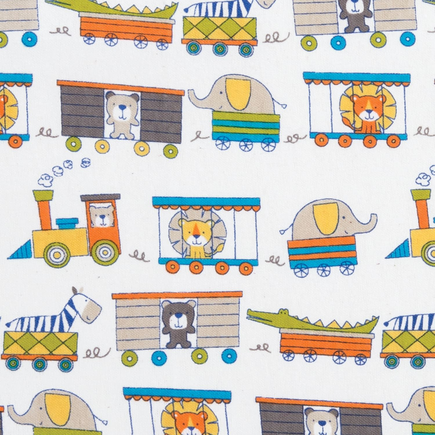 Trend Lab Circus Train Deluxe Flannel Fitted Crib Sheet