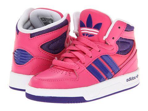 Adidas Originals Kids Court Attitude Infant Toddler Leather Girl Blast  Purple Running White, Adidas,