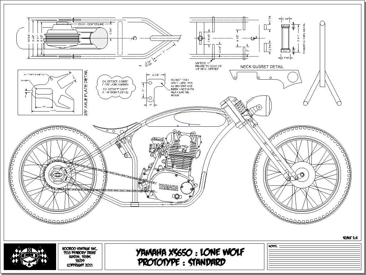Voodoo Vintage The Xs650 Lone Wolf Frame Is In Production