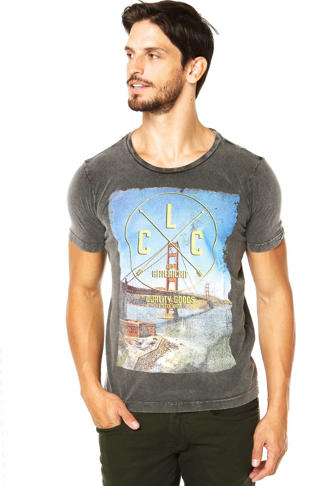 Camiseta Colcci Cinza - Compre Agora  790fd24e7db